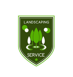 Icon for landscaping service vector