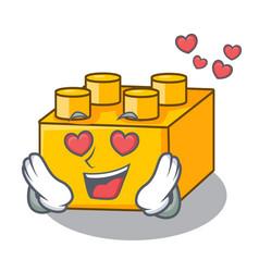 in love building blocks tyos isolated on cartoon vector image