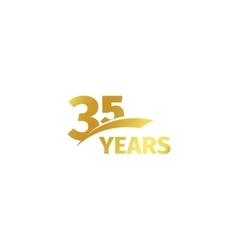 Isolated abstract golden 35th anniversary logo on vector image
