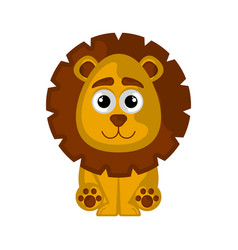 isolated cute lion on white background vector image