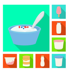 Isolated object organic and lactose symbol set vector