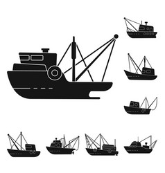 Isolated object shipping and yacht logo vector