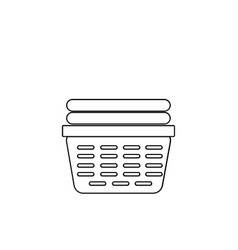 Laundry basket thin line icon of loundry basket vector