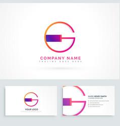 Letter g logo design template vector