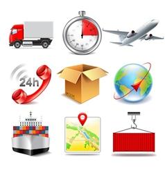 Logistics icons set vector