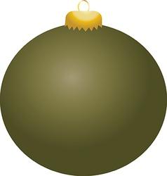 Olive Ball Ornament vector