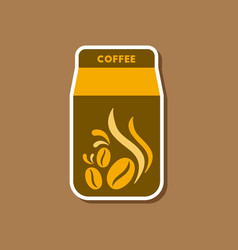Paper sticker on stylish background coffee vector