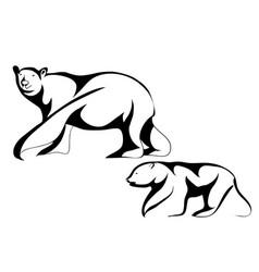 polar bears vector image