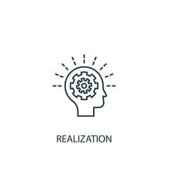 Realization concept line icon simple element vector