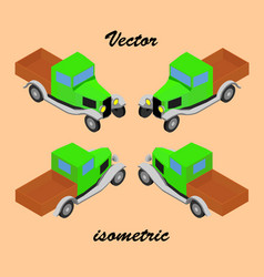 retro truck in isometric vector image