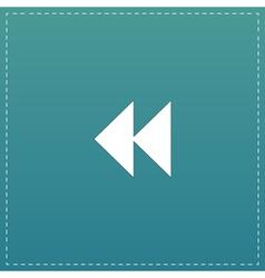 Rewind back icon vector