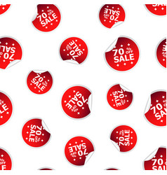 sale up to 70 percent sticker seamless pattern vector image