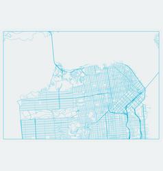 San francisco city california vector