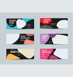 set banners template with abstract color vector image