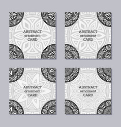 set of 4 creative covers vector image