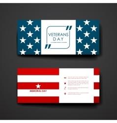 Set of modern design banner template in veterans vector