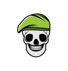 Skull using military hat logo ideas inspiration vector
