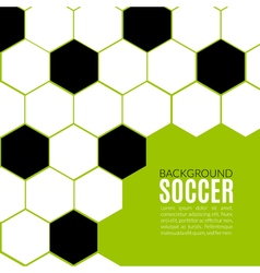 Soccer hexagonal background design template vector
