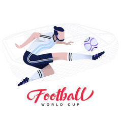 soccer player on the stadium background vector image