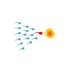 Sperm semen icon vector