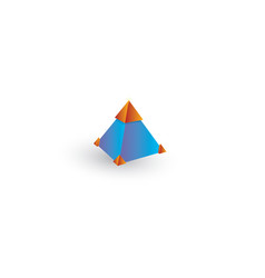 square pyramid basic 3d simple shapes isolated vector image
