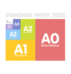 standard paper sizes a series set vector image