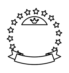 Stars in circle vector image