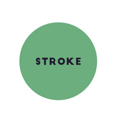 Stylish icon in color circle stroke disease vector