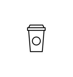 take away coffee icon vector image