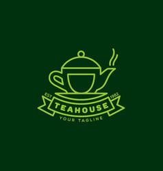 teahouse logo vector image