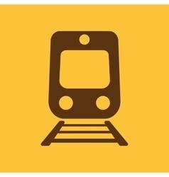 The train icon Railway symbol Flat vector image
