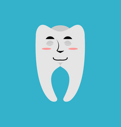 tooth sleeping emoji teeth asleep emotion isolated vector image