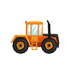 Tractor agriculture industrial farm equipment vector
