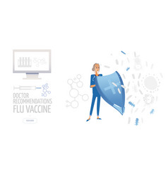 vaccination poster isolated vector image