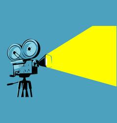 vintage movie projector film camera vector image