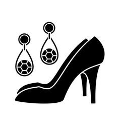 Wedding accessories glyph icon vector