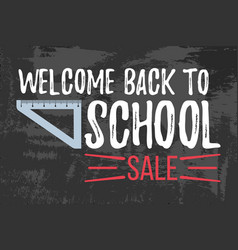 welcome back to school sale typographic vector image