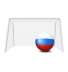 A soccer ball with the flag of Netherlands vector image vector image