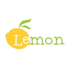 Abstract yellow lemon lettering vector image