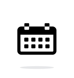 Calendar simple icon on white background vector image