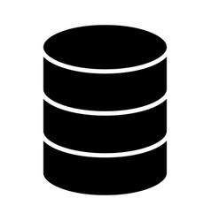 database icon simple minimal 96x96 pictogram vector image