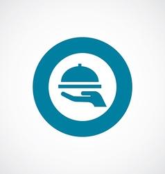 dish icon bold blue circle border vector image vector image