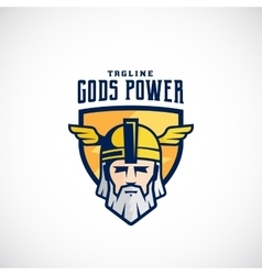Gods Power Sport Team or League Logo vector image vector image