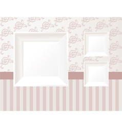 3d empty frame vector image