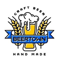 Craft beer bages vector image