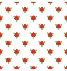 Cranberry pattern cartoon style vector