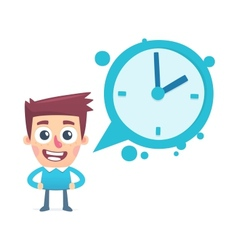 dialogue about time vector image vector image