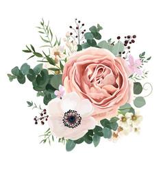 floral card design garden flower lavender rose vector image