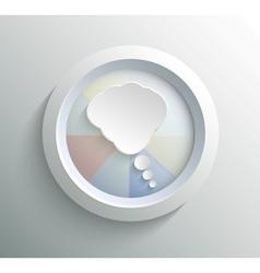 Icon bubble vector image vector image
