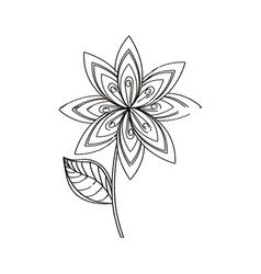 lilac flower decoration sketch vector image